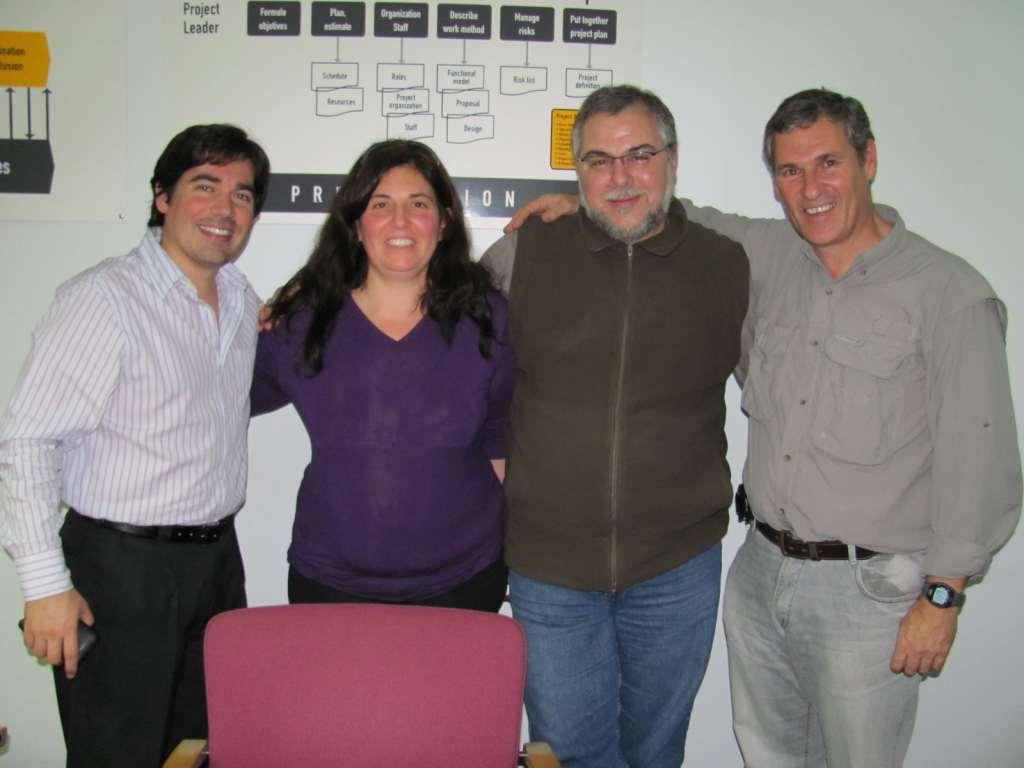 Alejandro Pazos, Carla, yo, y Marcelo Lommo