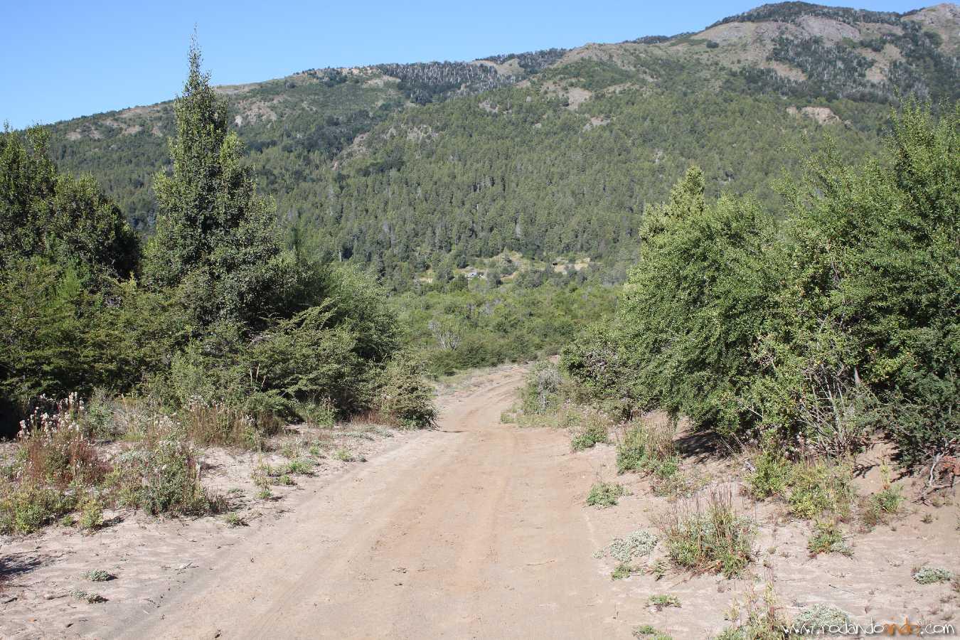 Por este camino se puede acceder al Cerro Catedral