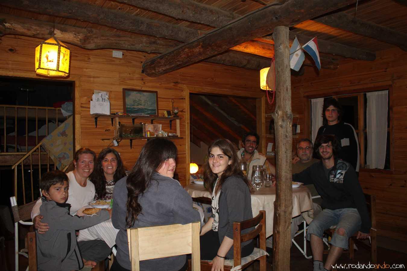 En la cabaña de Gwen y Nico